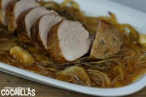 Solomillo de cerdo asado con tomillo y sirope de arce