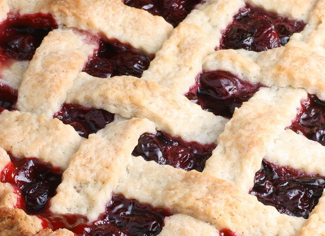 Cherry pie con rejilla