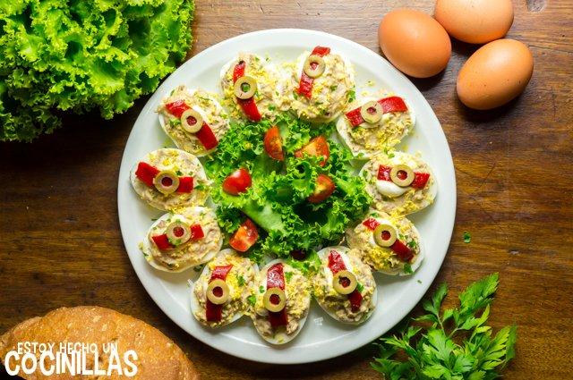 receta huevos rellenos sin mayonesa