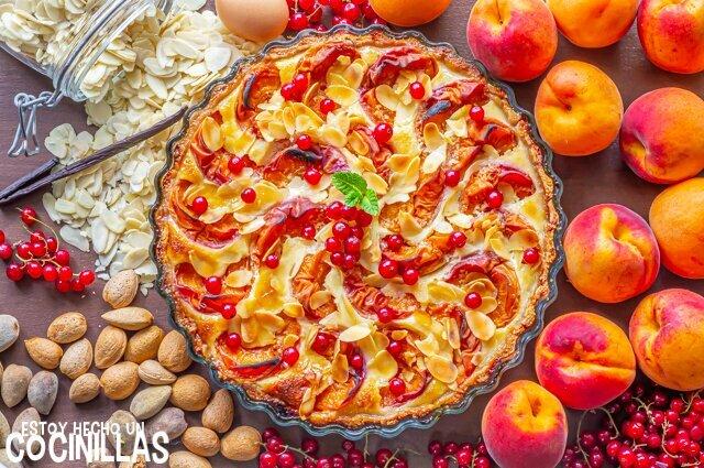 Receta de tarta de albaricoques y almendras