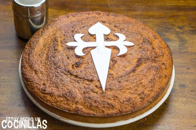 Tarta de Santiago (plantilla)