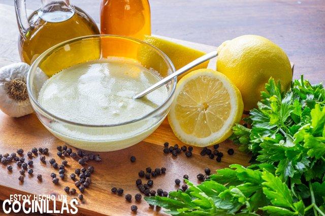 Vinagreta con yogur natural
