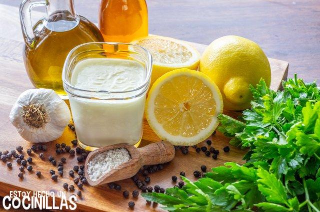 Vinagreta de yogur (ingredientes)