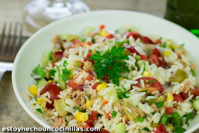 Ensalada de arroz (ensalada de verano)