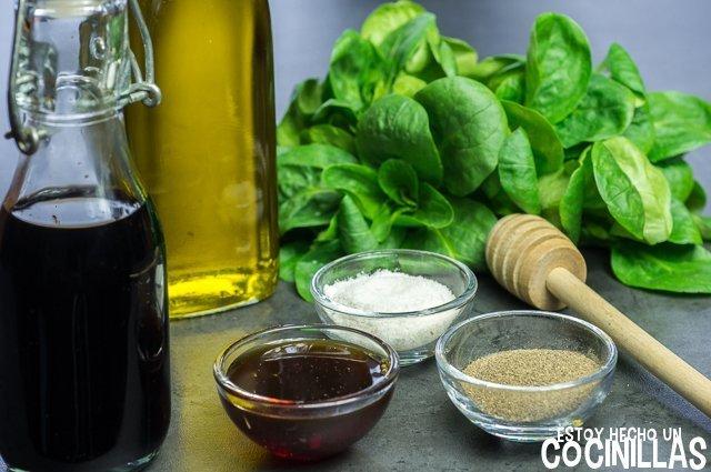 Vinagreta de balsámico y miel (ingredientes)