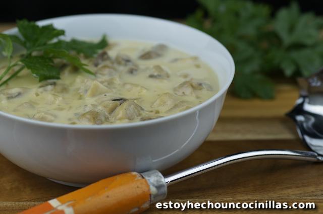 Cómo hacer salsa blanca con champiñones