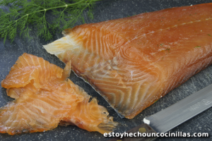 Receta de salmón marinado (salmón gravlax)