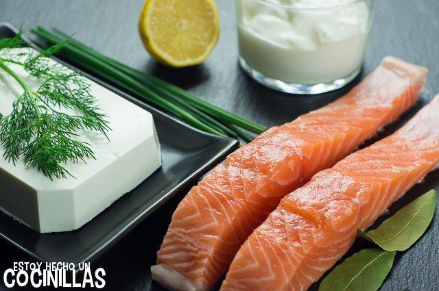 Crema de salmón para untar (ingredientes)