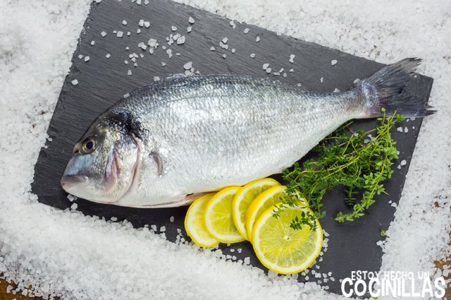 Dorada a la sal (ingredientes)