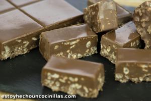 Turrón de chocolate crujiente tipo Suchard