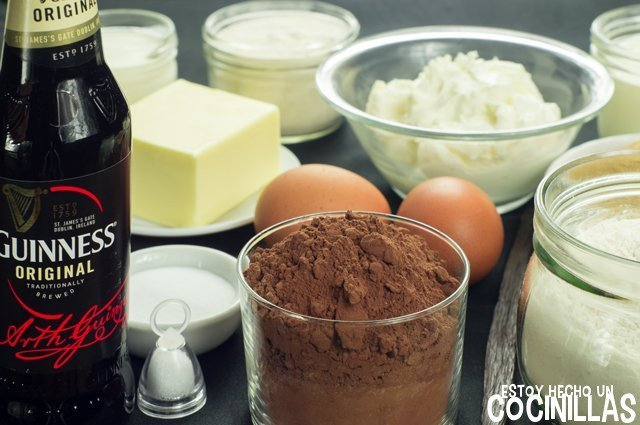 Tarta Guinness (ingredientes)