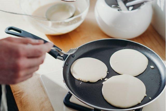 Tortitas americanas o pancakes (en sartén)