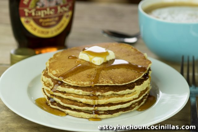 Receta de tortitas americanas. Receta de pancakes