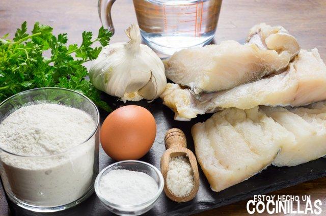Buñuelos de bacalao (ingredientes)