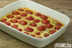 cómo preparar un clafoutis de tomates cereza