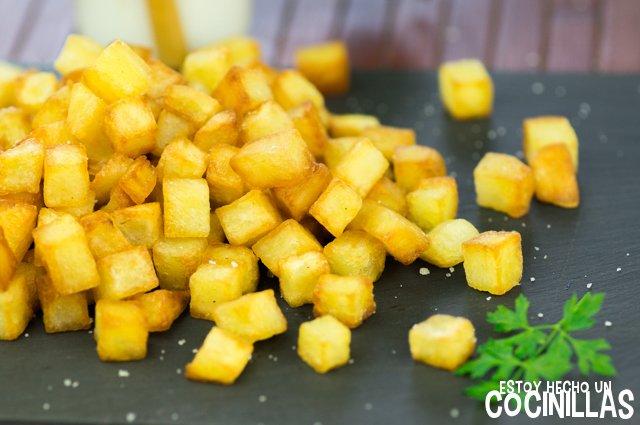 Patatas grasa pato