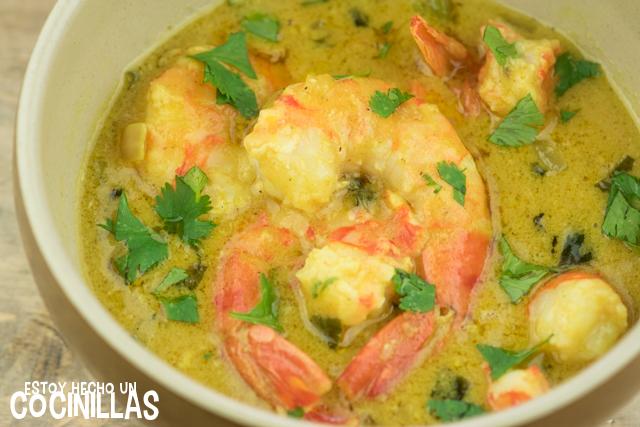 Langostinos al curry