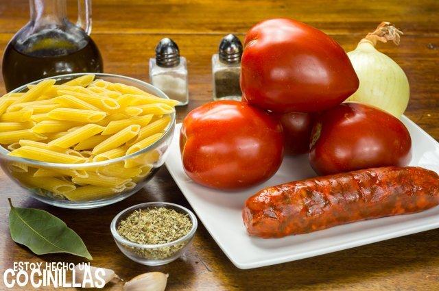 Macarrones con chorizo (ingredientes)