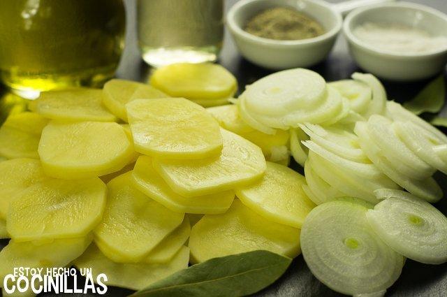 Patatas panaderas al horno (ingredientes)