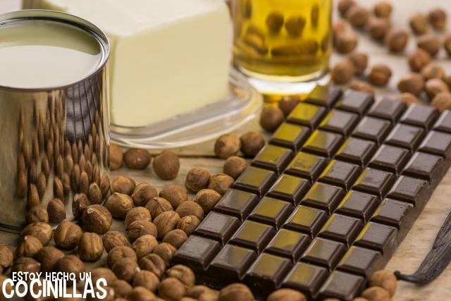 Crema de cacao y avellanas (ingredientes)