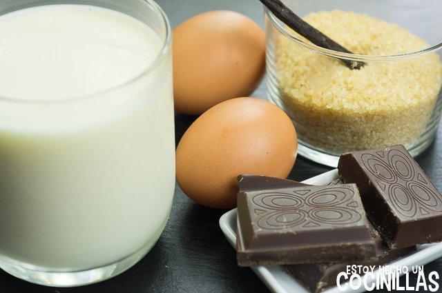Flan de chocolate (ingredientes)