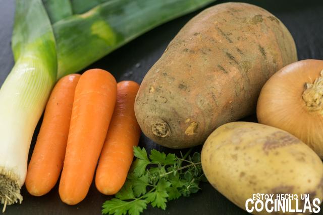 Crema de boniato y zanahoria (ingredientes)