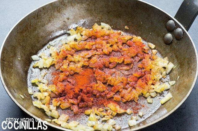 Garbanzos con kale (sofrito)