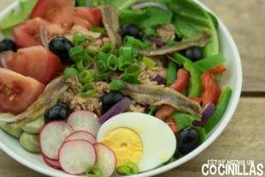 Receta de ensalada nizarda (salade niçoise)