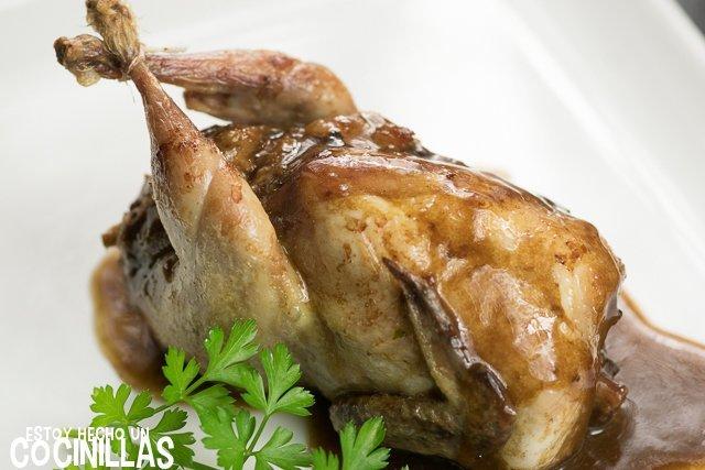 codornices rellenas con boletus y foie-gras