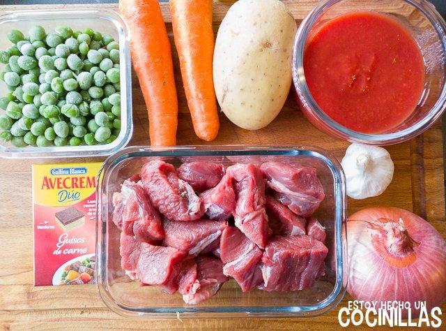 Estofado de carne (ingredientes)