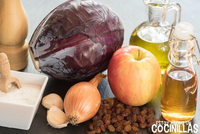 Lombarda con manzana (ingredientes)