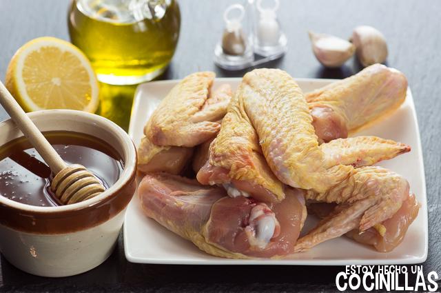 Alitas de pollo con miel (ingredientes)