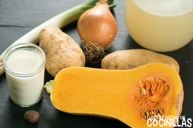 Crema de calabaza butternut (ingredientes)