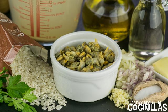 Risotto de berberechos (ingredientes)
