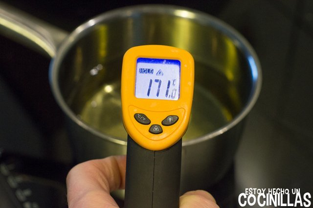 Aceite para freír albóndigas de pollo