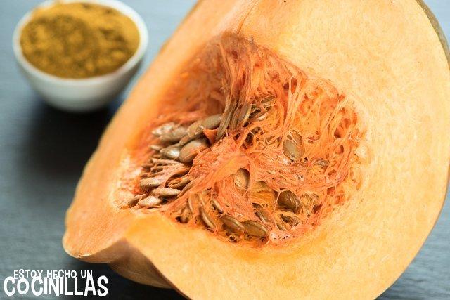 Crema de calabaza al curry (ingredientes)