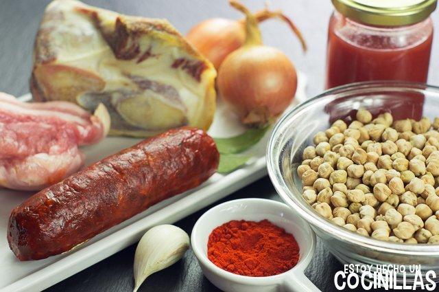 Garbanzos con chorizo (ingredientes)