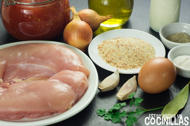 Ingredientes para hacer albóndigas de pollo