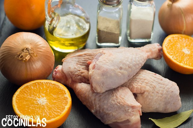 Pollo a la naranja (ingredientes)