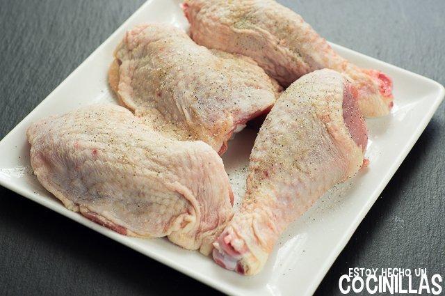 Pollo a la naranja (salpimentar)