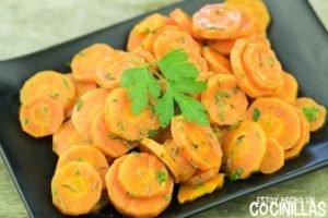 Zanahorias aliñadas estilo marroquí
