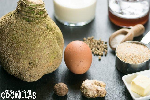 Colinabo gratinado al estilo finlandés (lanttulaatikko) - Ingredientes