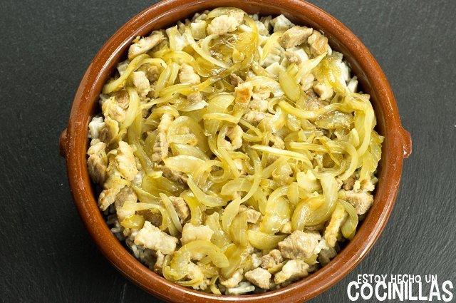 Croziflette (montaje - panceta con cebolla)