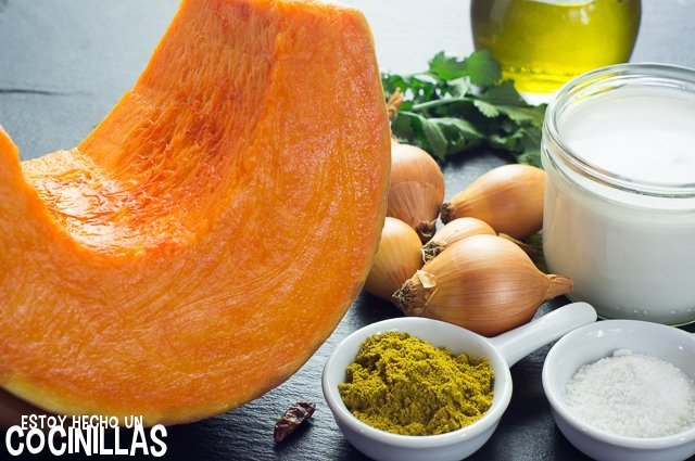 Curry de calabaza (ingredientes)