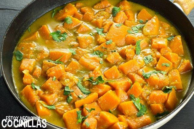 Curry de calabaza (sartén)