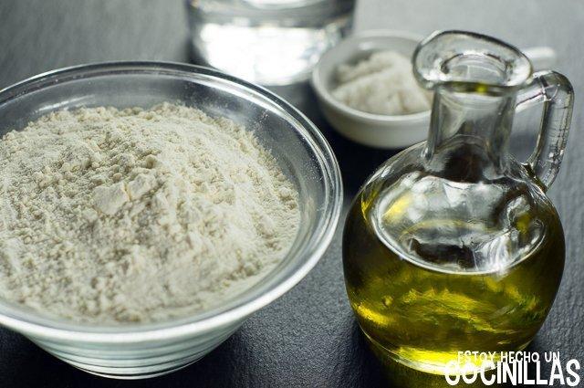 Masa quebrada de aceite de oliva (ingredientes)