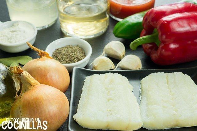 Bacalao encebollado (ingredientes)