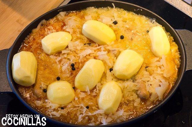 Chucrut a la alsaciana (patatas)