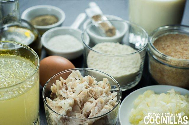 Croquetas de merluza (ingredientes)