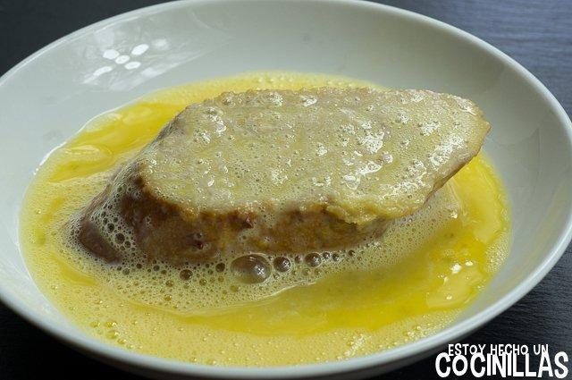 Torrijas de cereza con helado de pistacho(huevo)